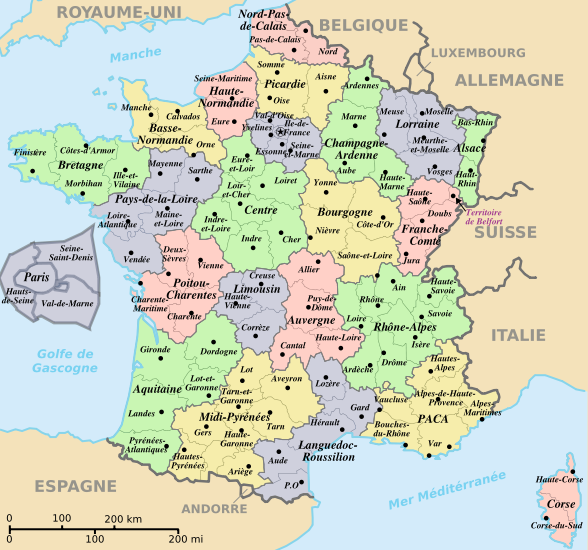 regions departements de france - Photo